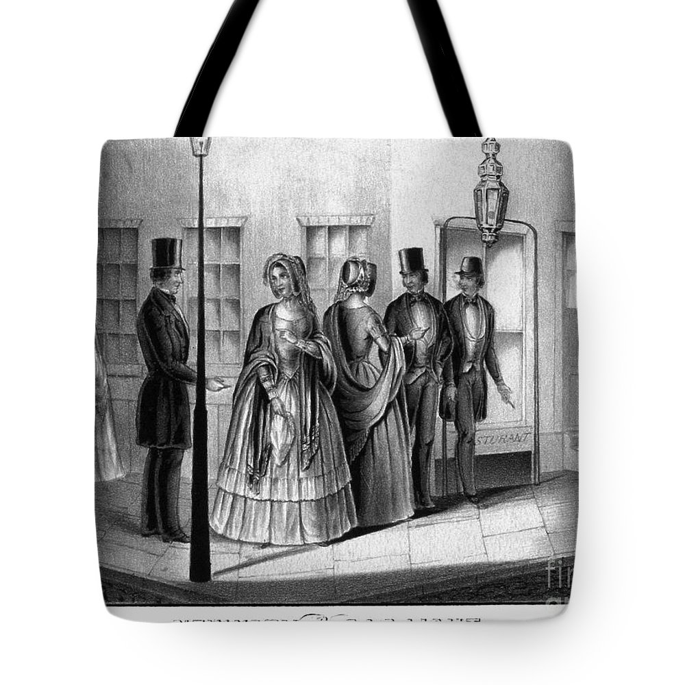 1850 Tote Bag featuring the photograph Prostitution, 1850 by Granger
