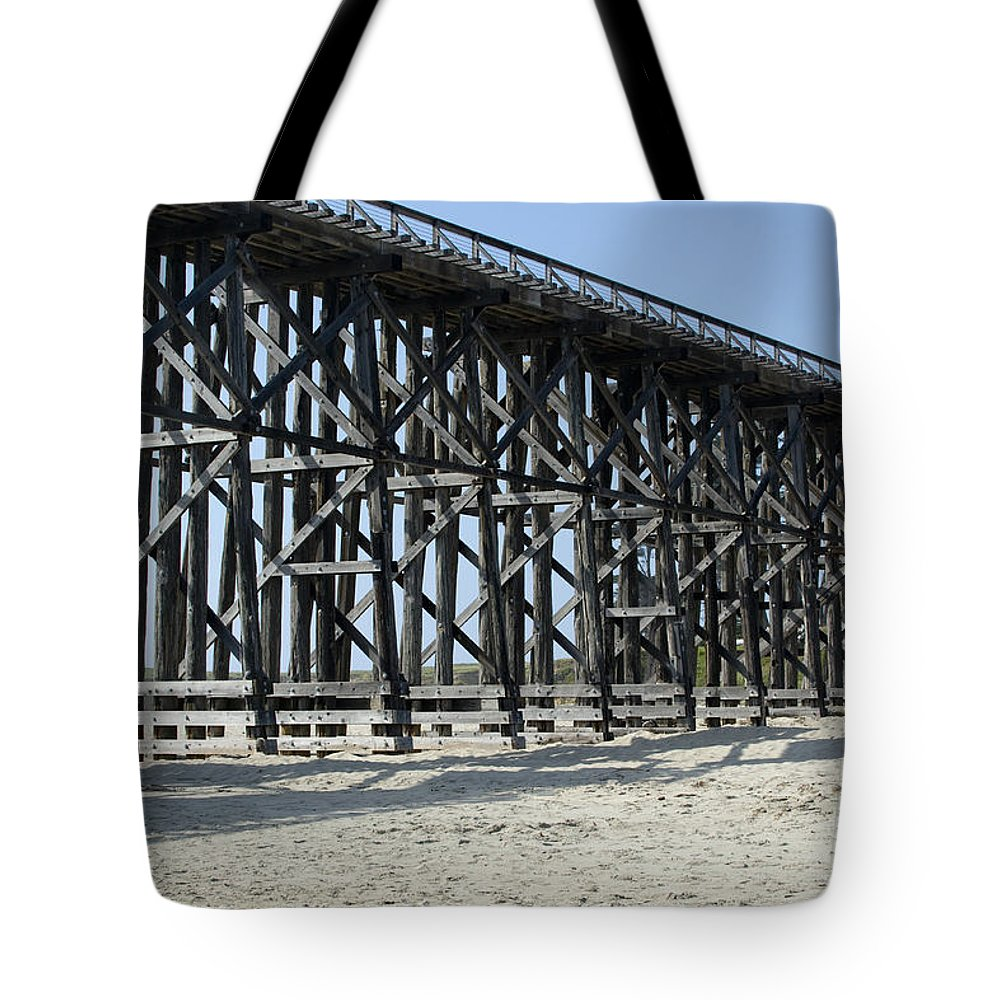 Structures Tote Bag featuring the photograph Pudding Creek Bridge by Sandra Bronstein