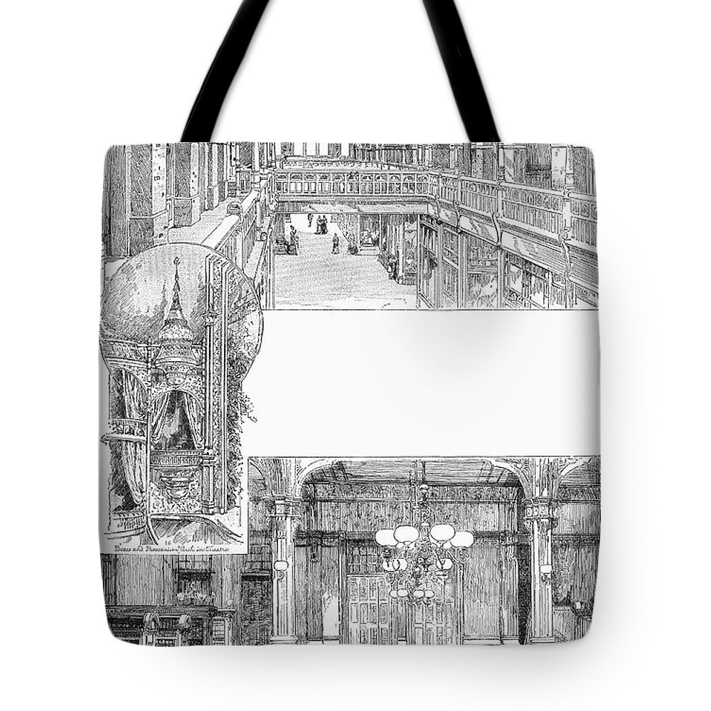 1885 Tote Bag featuring the photograph Pullman: Arcade, C1885 by Granger