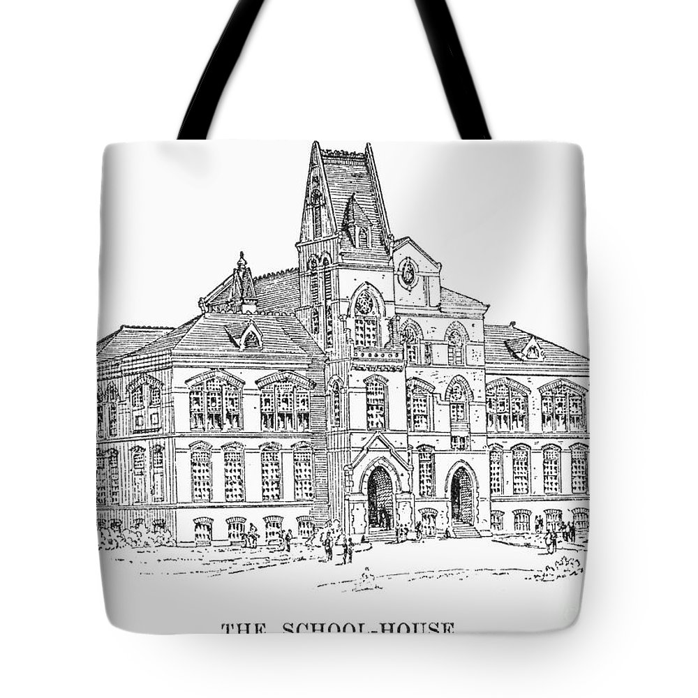 1885 Tote Bag featuring the photograph Pullman: Schoolhouse by Granger