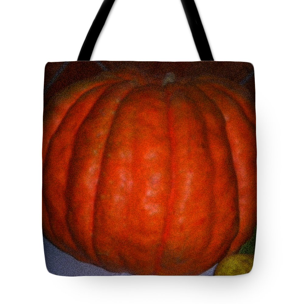 Colette Tote Bag featuring the painting Pumpkin In Spain by Colette V Hera Guggenheim