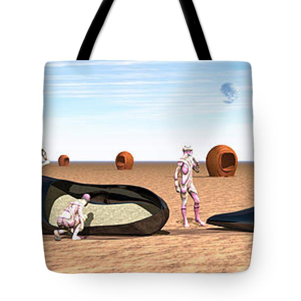 Dali Tote Bag featuring the digital art Pumps by Nandor Volovo