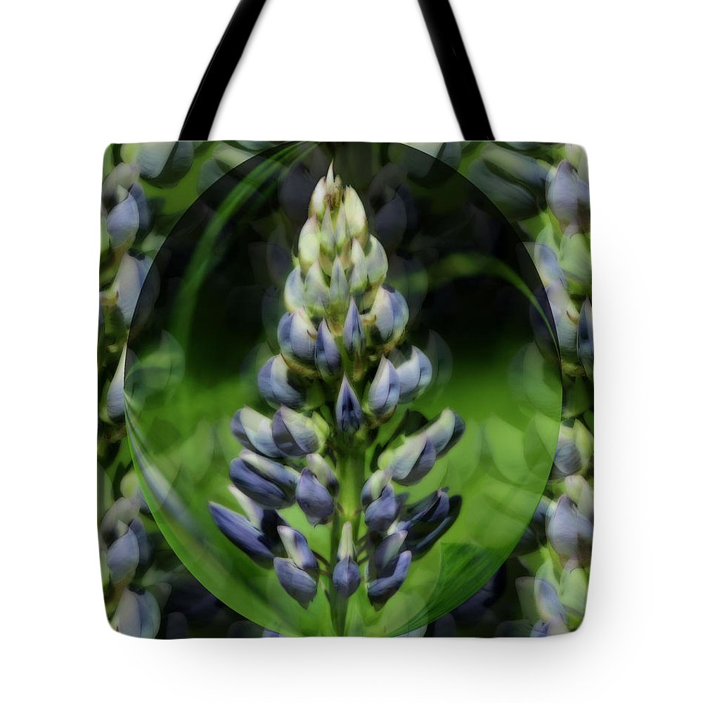 Flower Tote Bag featuring the photograph Purple Lupine Beauty by Smilin Eyes Treasures