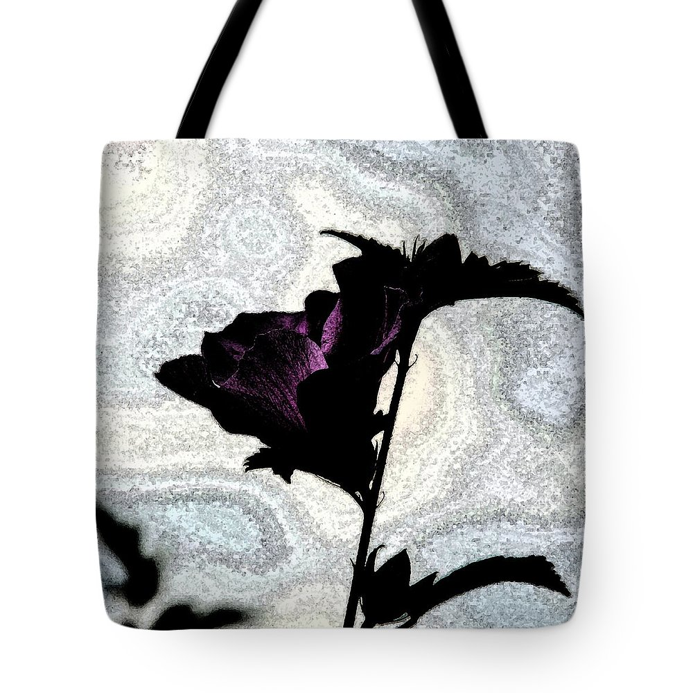 Flower Tote Bag featuring the photograph Purple by T Campbell