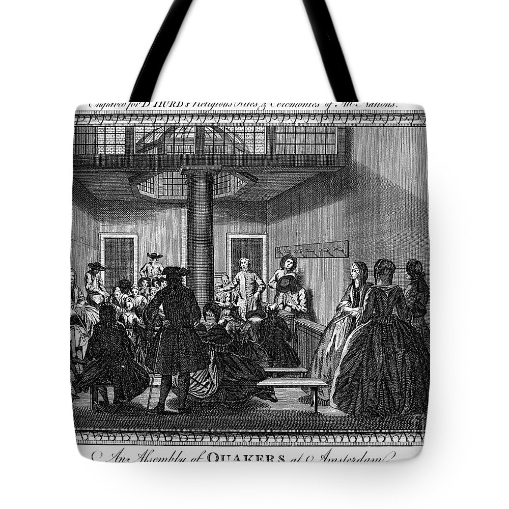 1790 Tote Bag featuring the photograph Quaker Meeting, C1790 by Granger