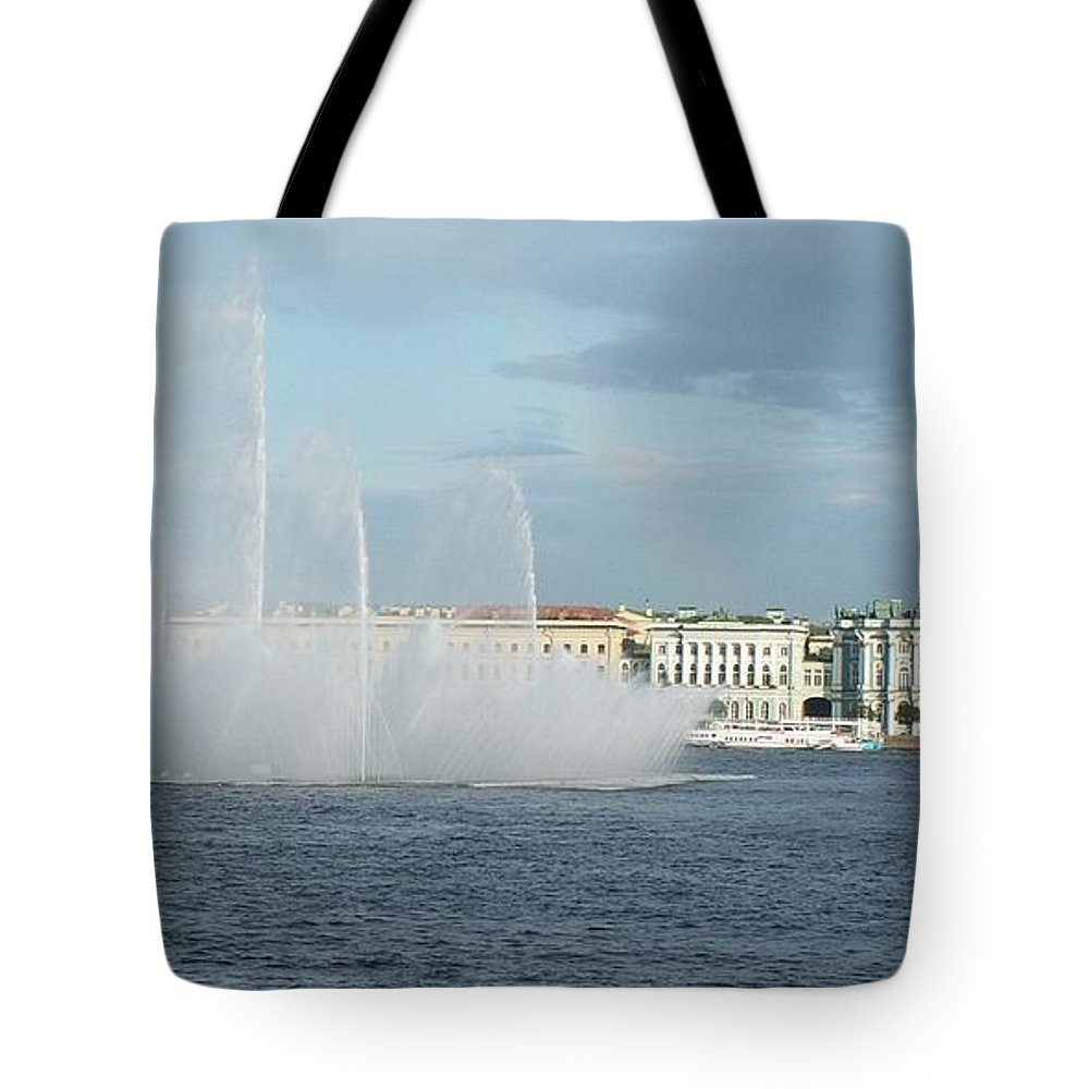River Tote Bag featuring the photograph Quay In Peterburg by Evgeny Pisarev