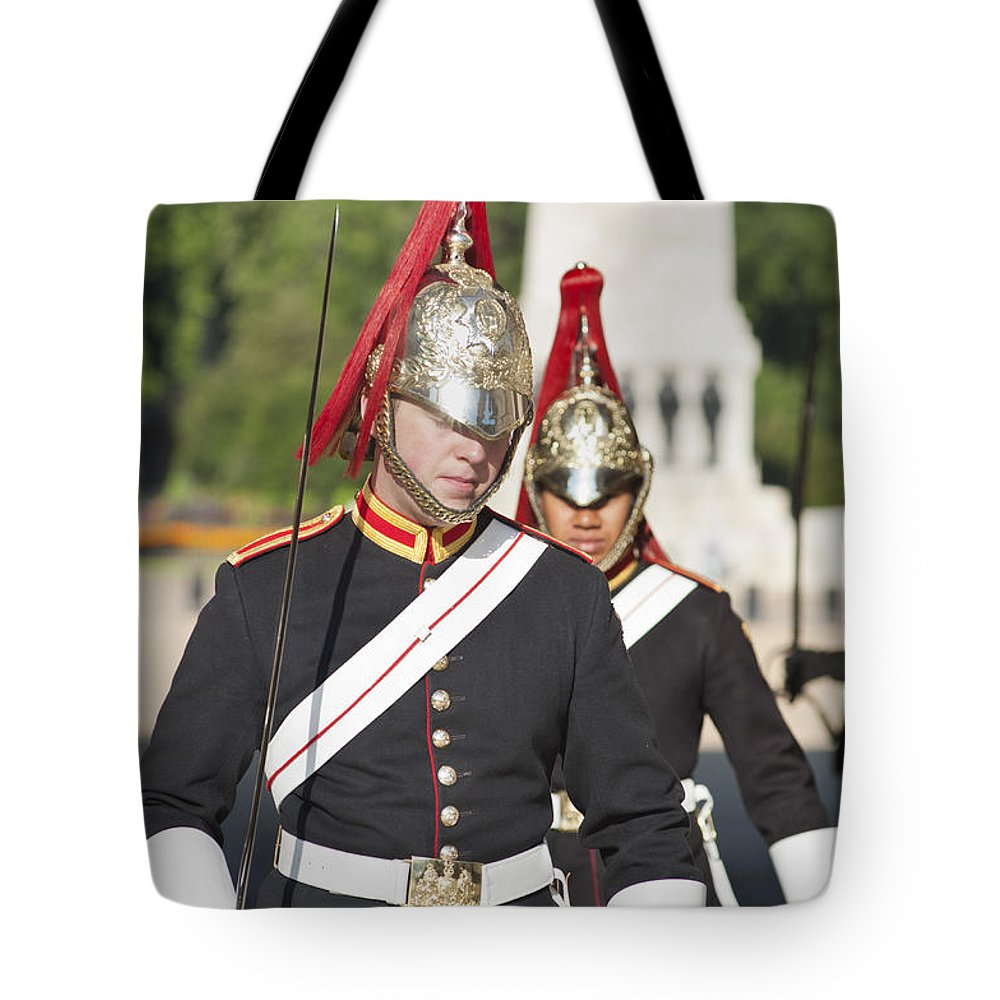 2011 Tote Bag featuring the photograph Queen Lifeguards London by Andrew Michael