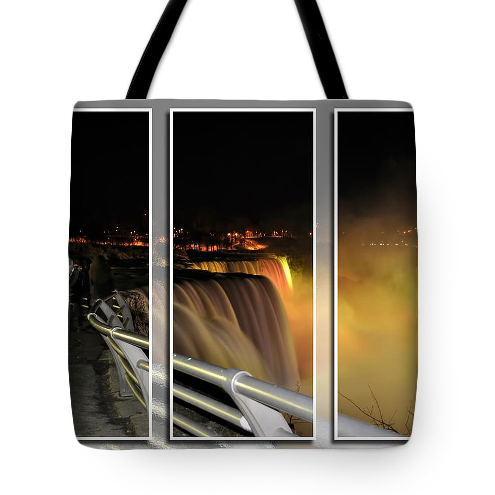 Tote Bag featuring the photograph Quiet Thunder Triptych Series by Michael Frank Jr