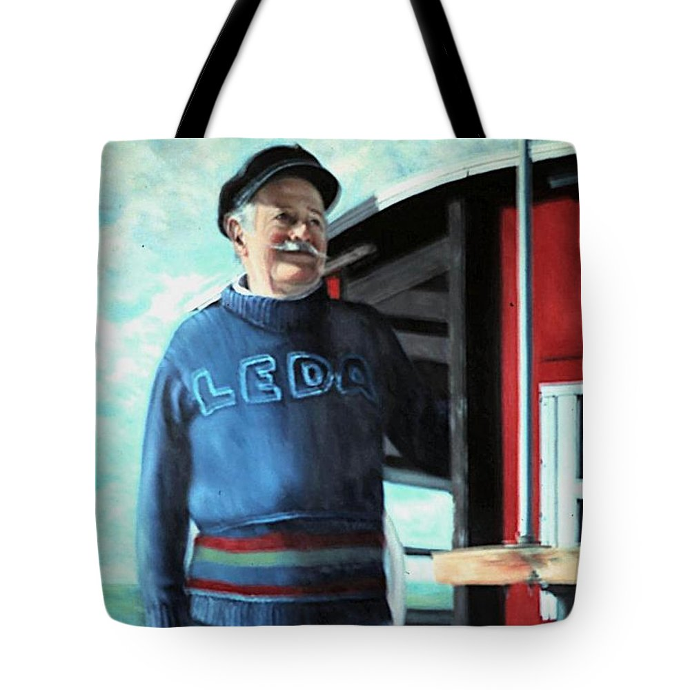 Portrait Tote Bag featuring the painting R. Sylvester Founder Maritime Museum by Michael John Cavanagh