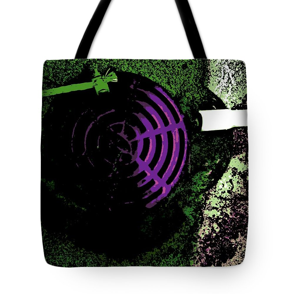 Radioactive Tote Bag featuring the photograph Radioactive Drain by George Pedro