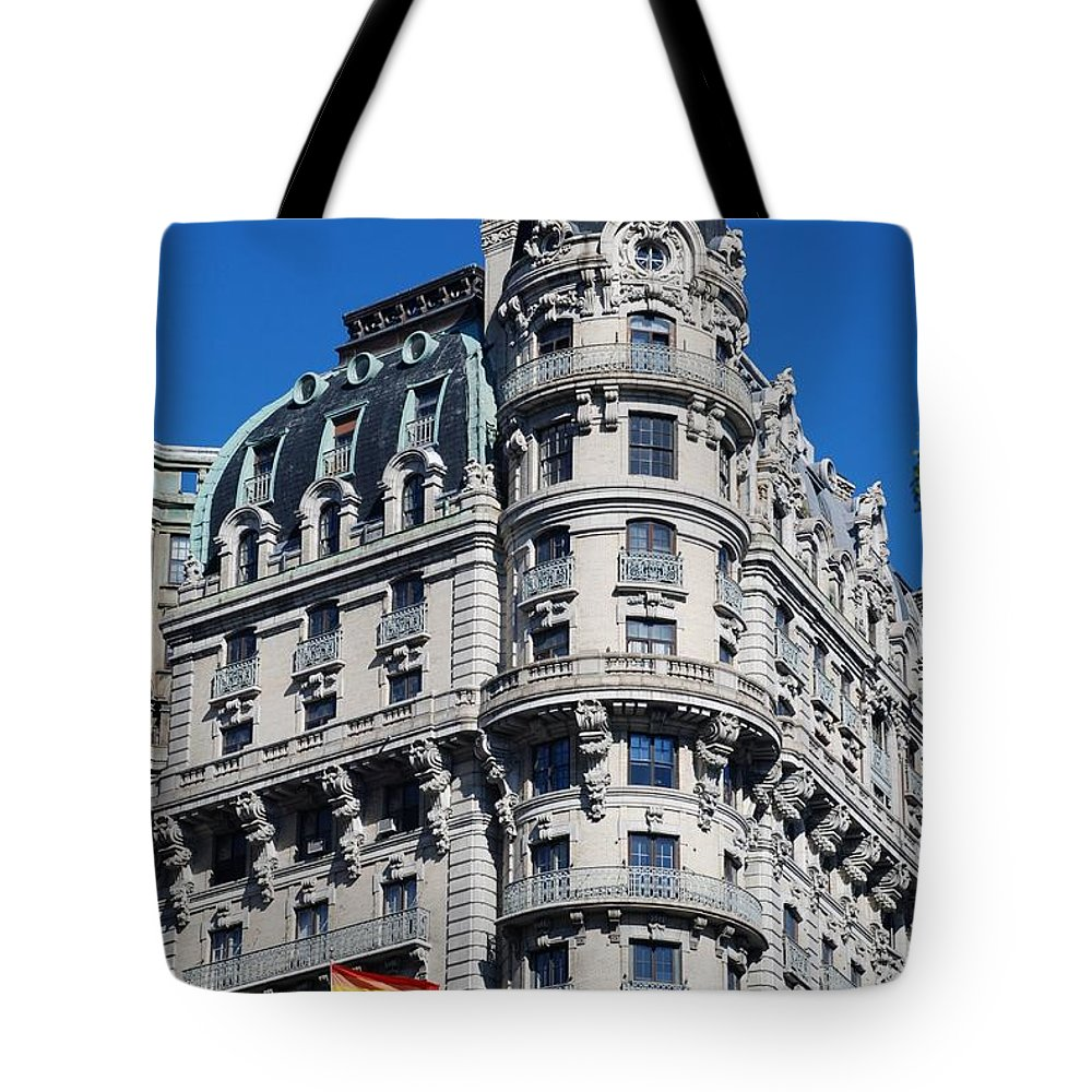 Colors Tote Bag featuring the photograph Rainbows And Architecture by Rob Hans