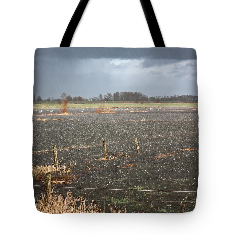 Clouds Tote Bag featuring the photograph Rainfall by Semmick Photo