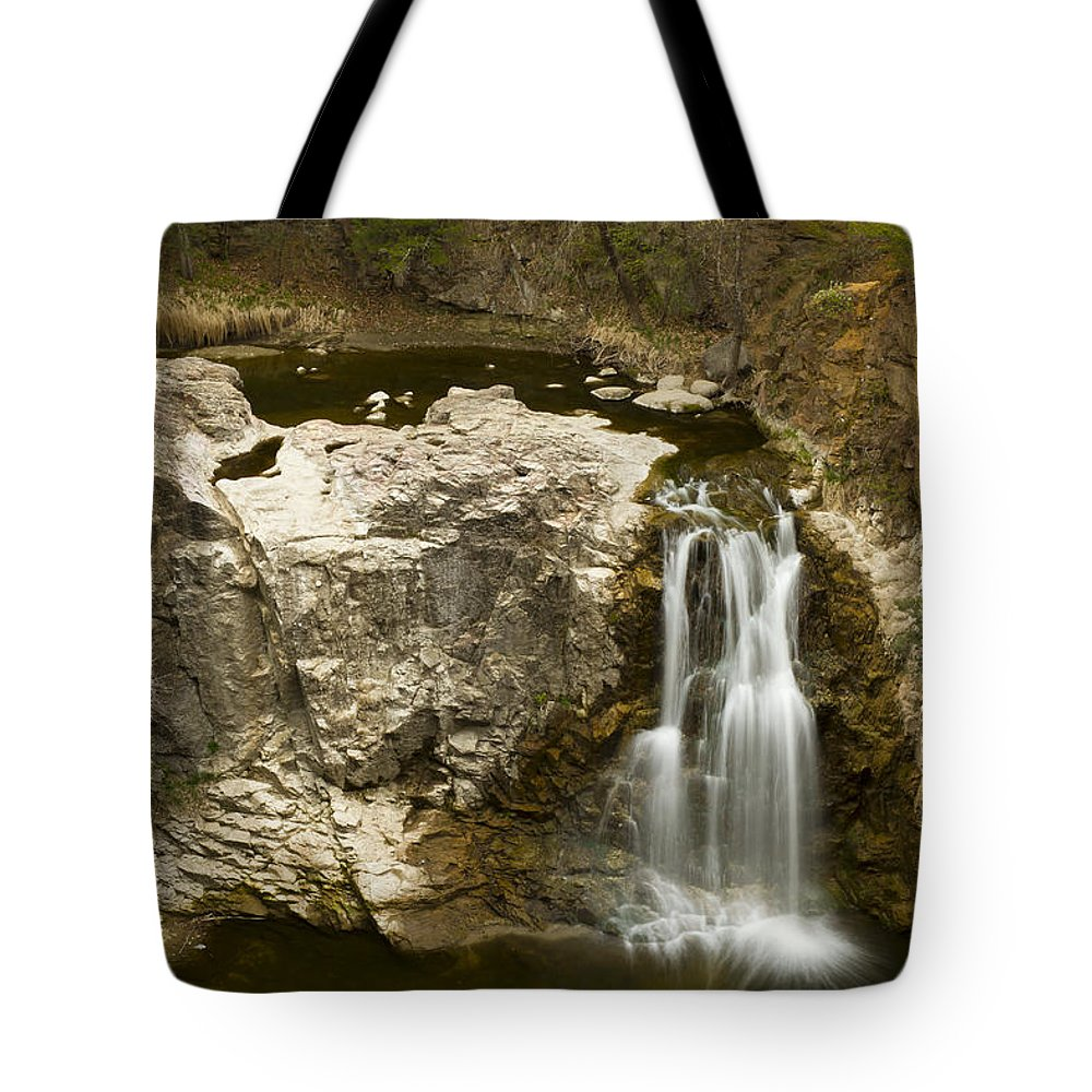 Waterfall Tote Bag featuring the photograph Ramsey Falls Mn 16 by John Brueske