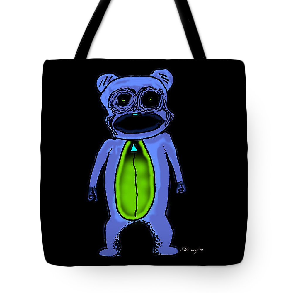 I Am So Scary Tote Bag featuring the drawing Rawwwr Inverse by Michael Mooney