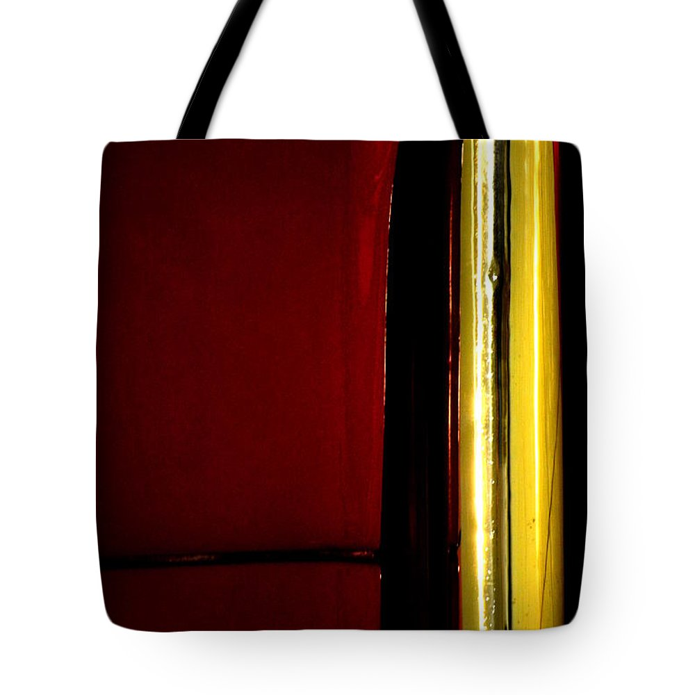 Metal Tote Bag featuring the photograph Red And Gold by Newel Hunter