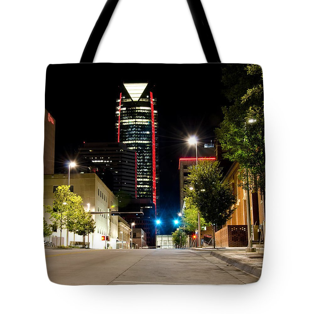 Okc Tote Bag featuring the photograph Red Devon by Ricky Barnard
