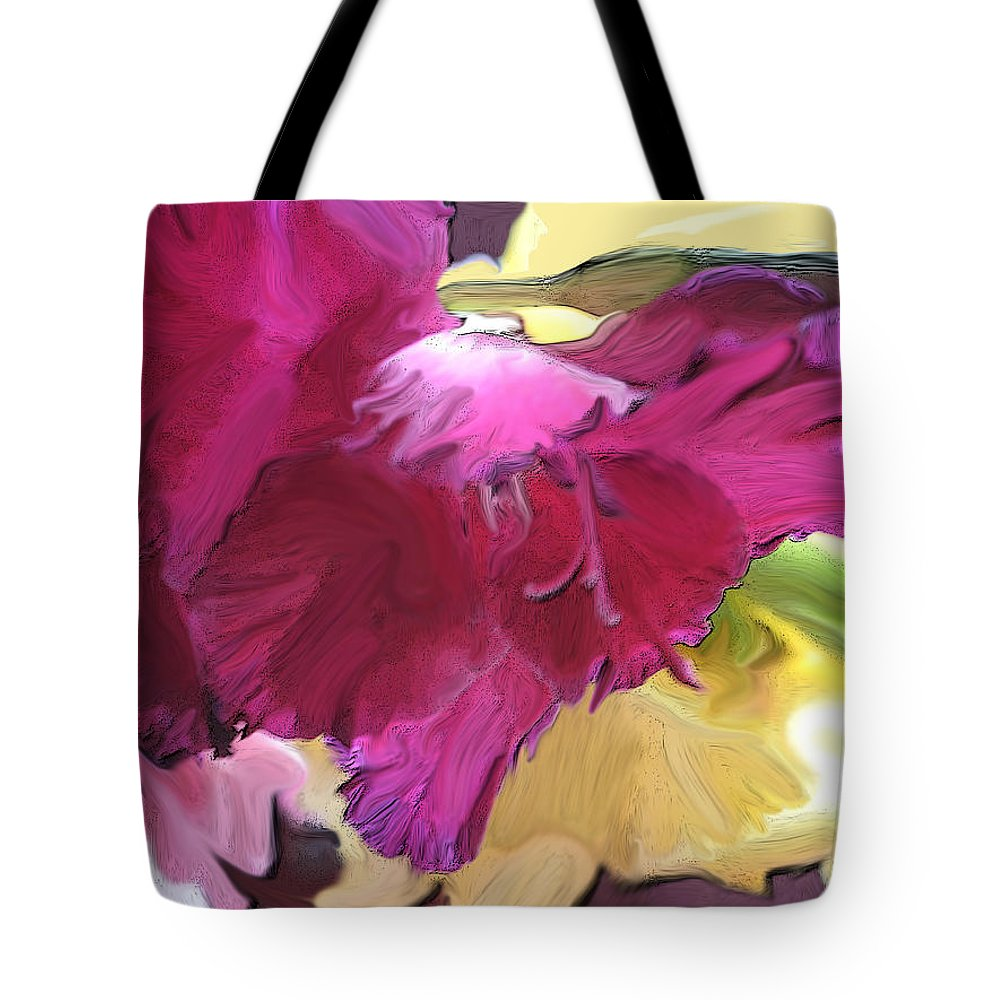 Flower Tote Bag featuring the photograph Red Flower In The Abstract by Ian MacDonald