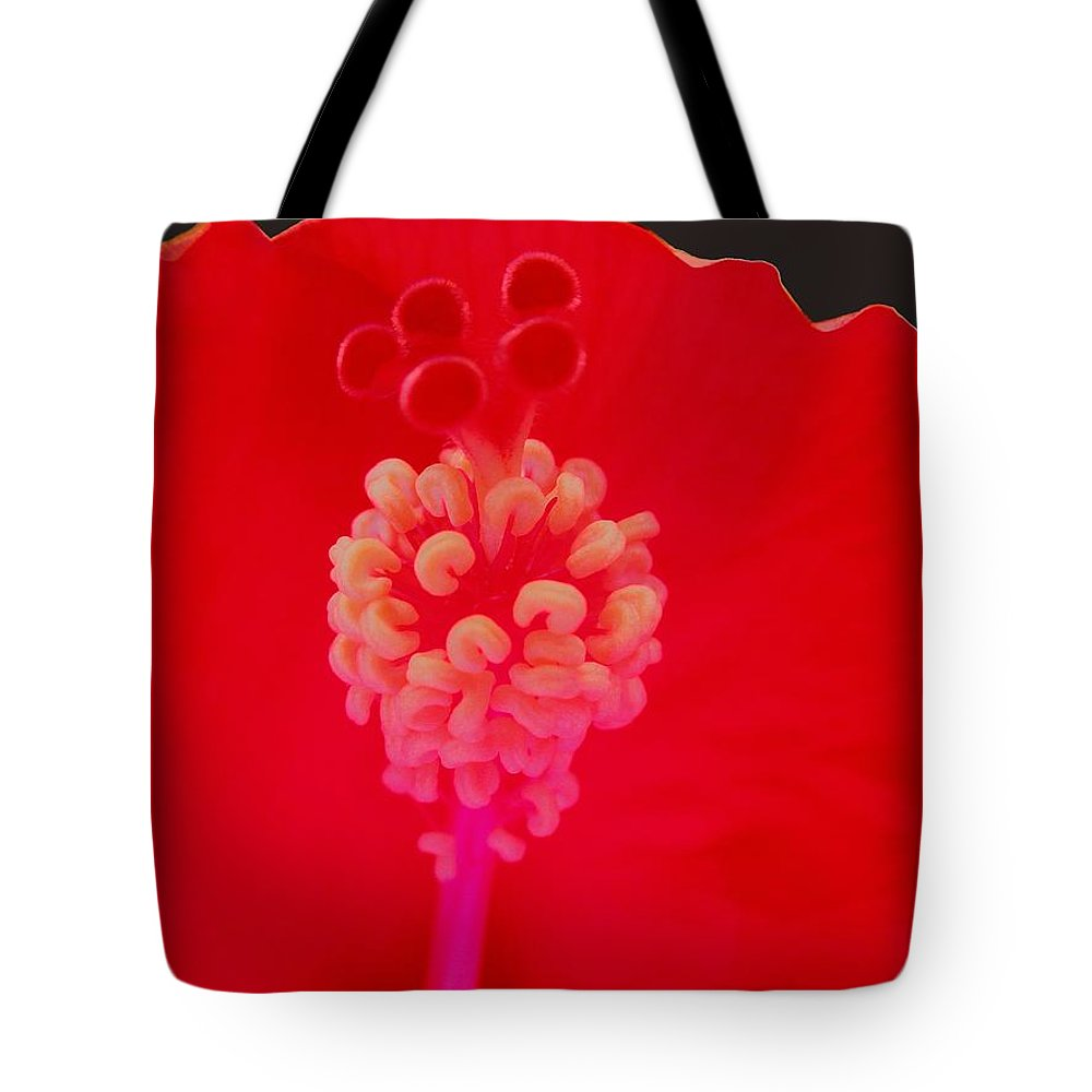 Hibiscus Tote Bag featuring the photograph Red Hot Hibiscus by Renee Trenholm