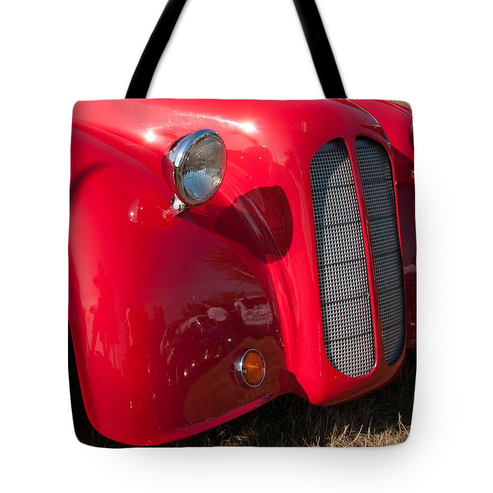 1949 Ford Anglia Tote Bag featuring the photograph Red Nose by Guy Whiteley