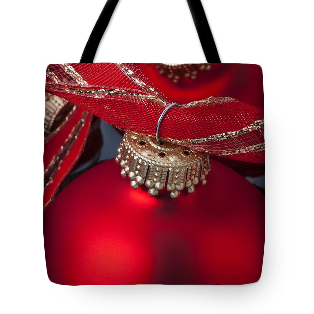 Colorful Ornaments Tote Bag featuring the photograph Red Ornaments by Garry Gay