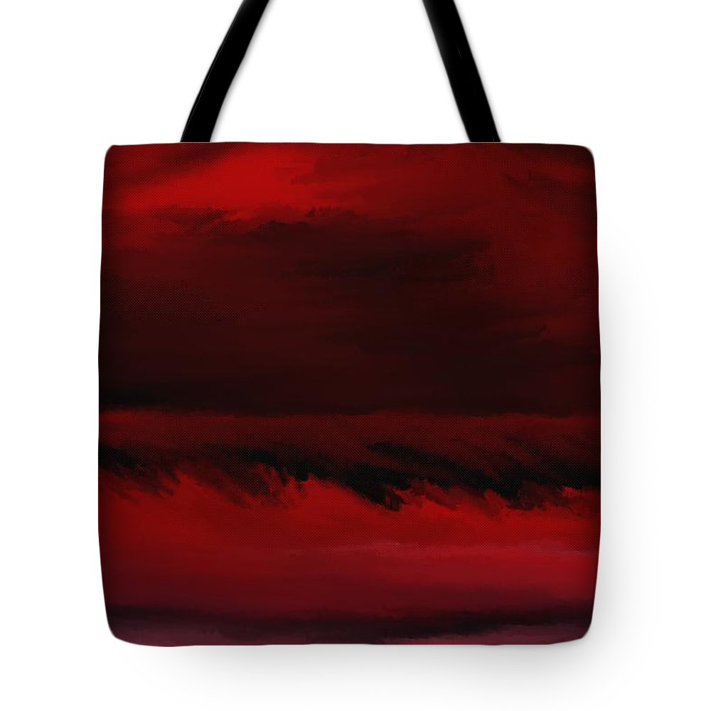 Fine Art Tote Bag featuring the digital art Red Sea Abstract 112711 by David Lane
