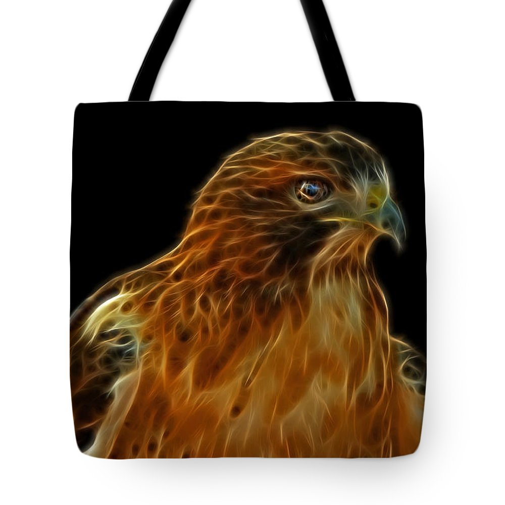 Hawk Tote Bag featuring the photograph Red-tailed Hawk by Sandy Keeton