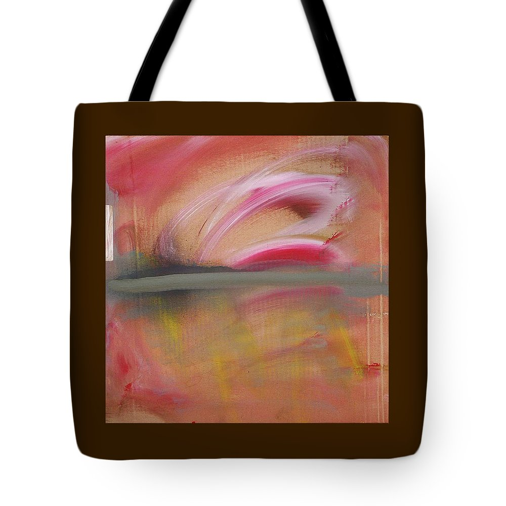 Tsunami Tote Bag featuring the painting Red Tide by Charles Stuart