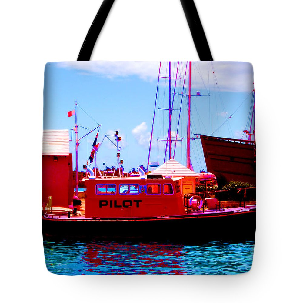 Digital Tote Bag featuring the photograph Red White And Blue by Richard Ortolano