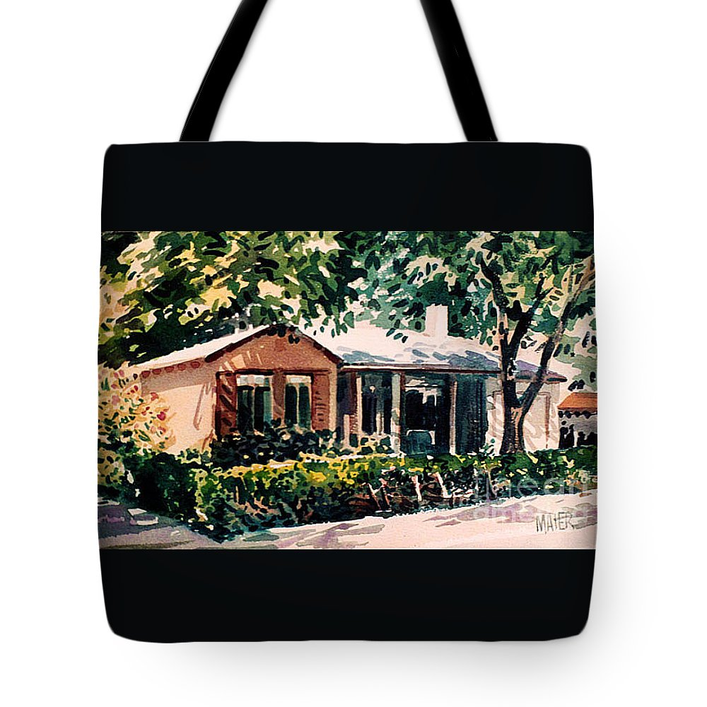 Home Tote Bag featuring the painting Redwood City #4 by Donald Maier