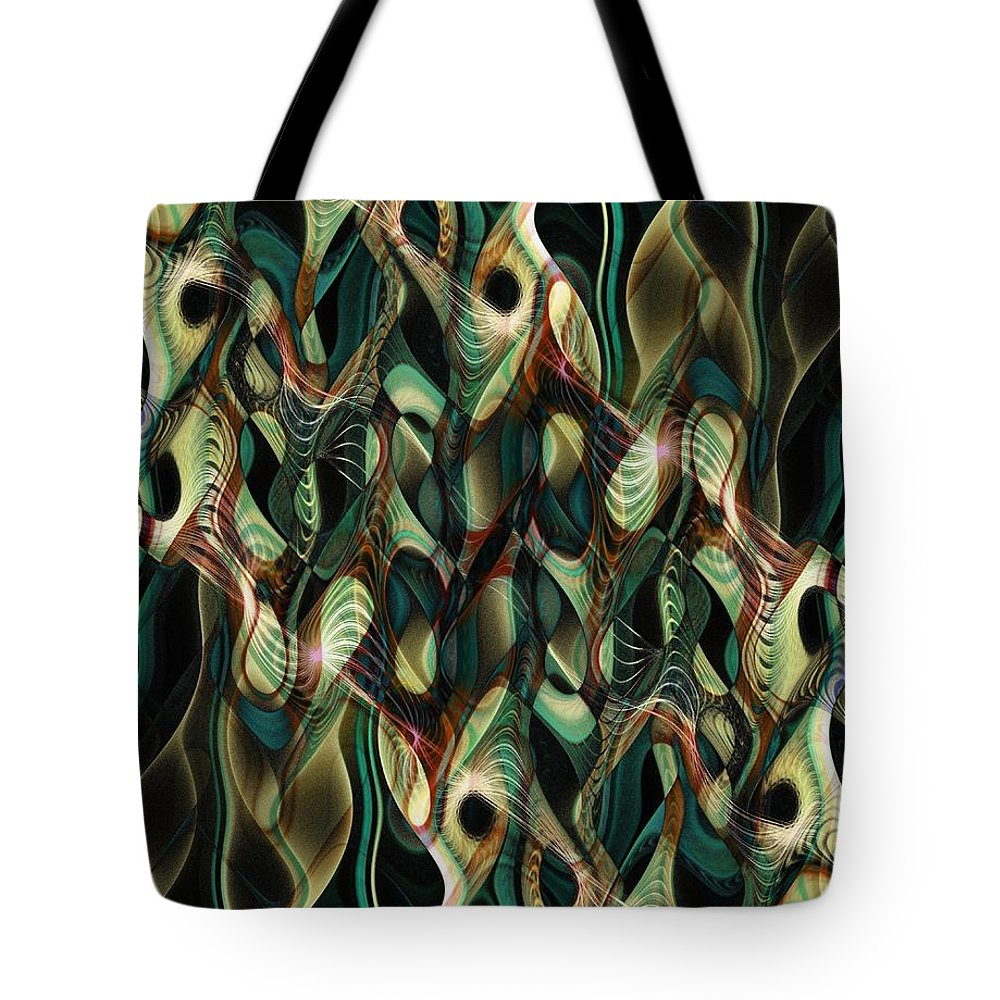 Digital Art Tote Bag featuring the digital art Reeds by Amanda Moore