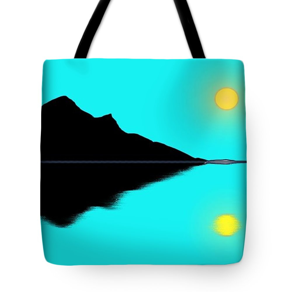 Mountains Tote Bag featuring the painting Reflection 2 by George Pedro