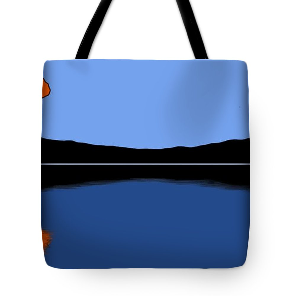 Tree Tote Bag featuring the painting Reflection by George Pedro