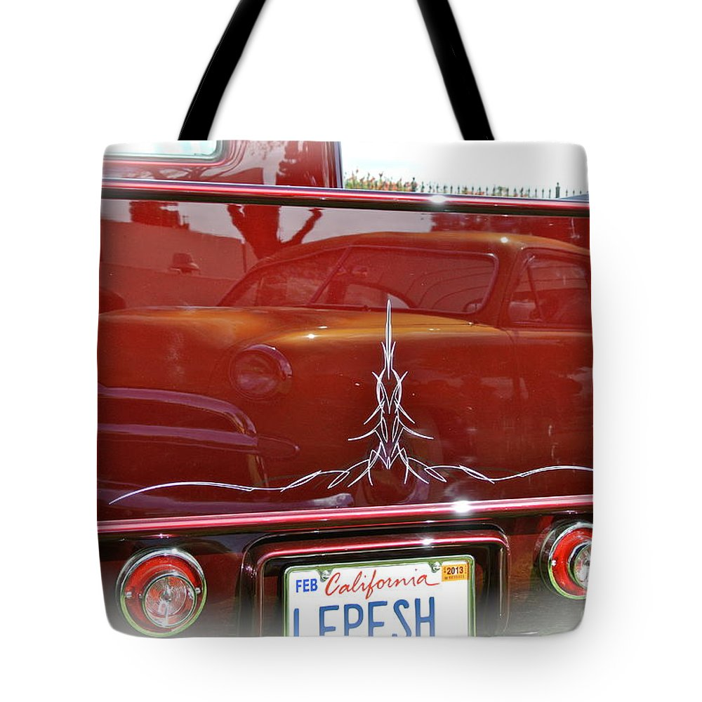 Truck Tote Bag featuring the photograph Reflection In Candy by Customikes Fun Photography and Film Aka K Mikael Wallin