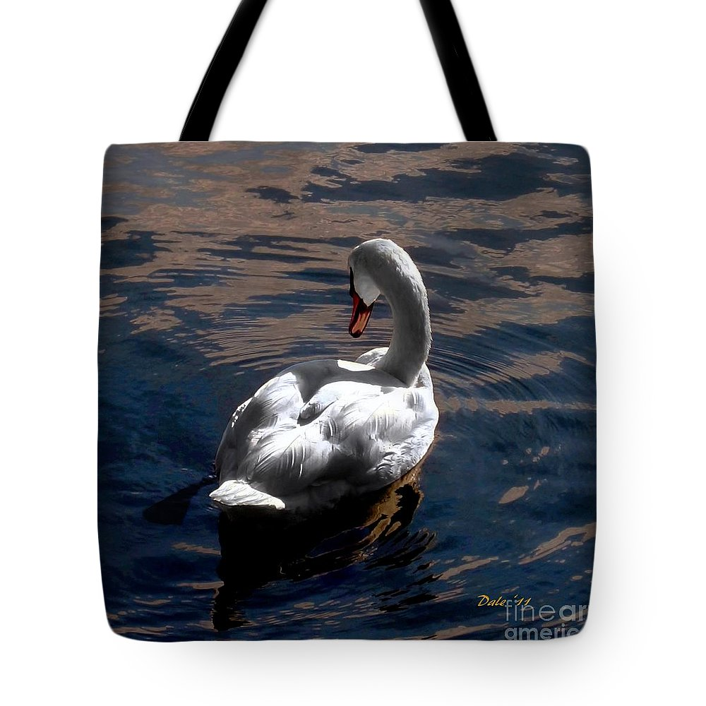 Seabirds Tote Bag featuring the digital art Reflections by Dale  Ford