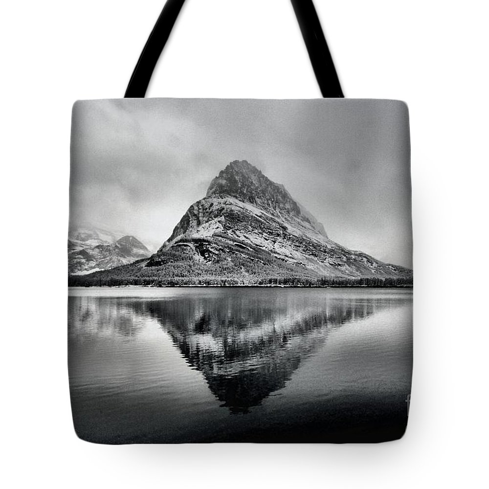 Glacier National Park Tote Bag featuring the photograph Reflections Of Grinnell by Adam Jewell
