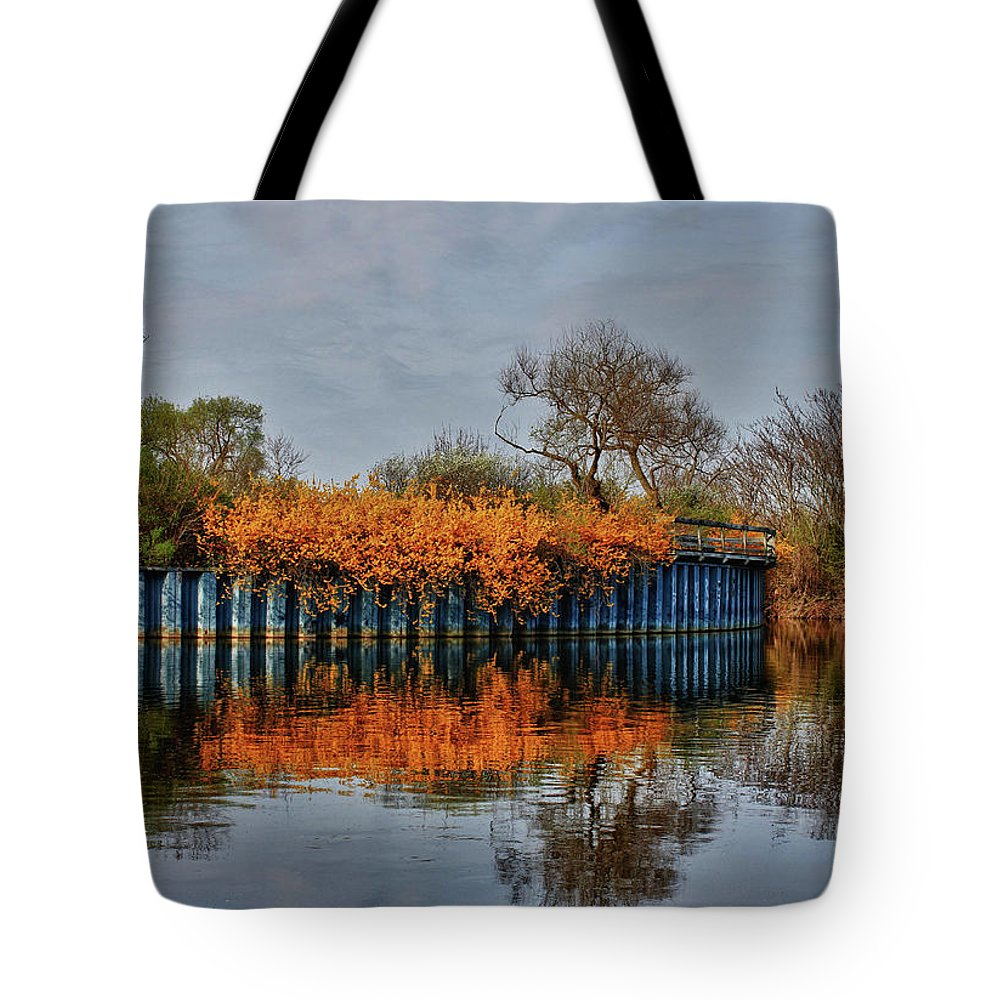 Reflections Tote Bag featuring the photograph Reflections On Blue by Rachel Cohen