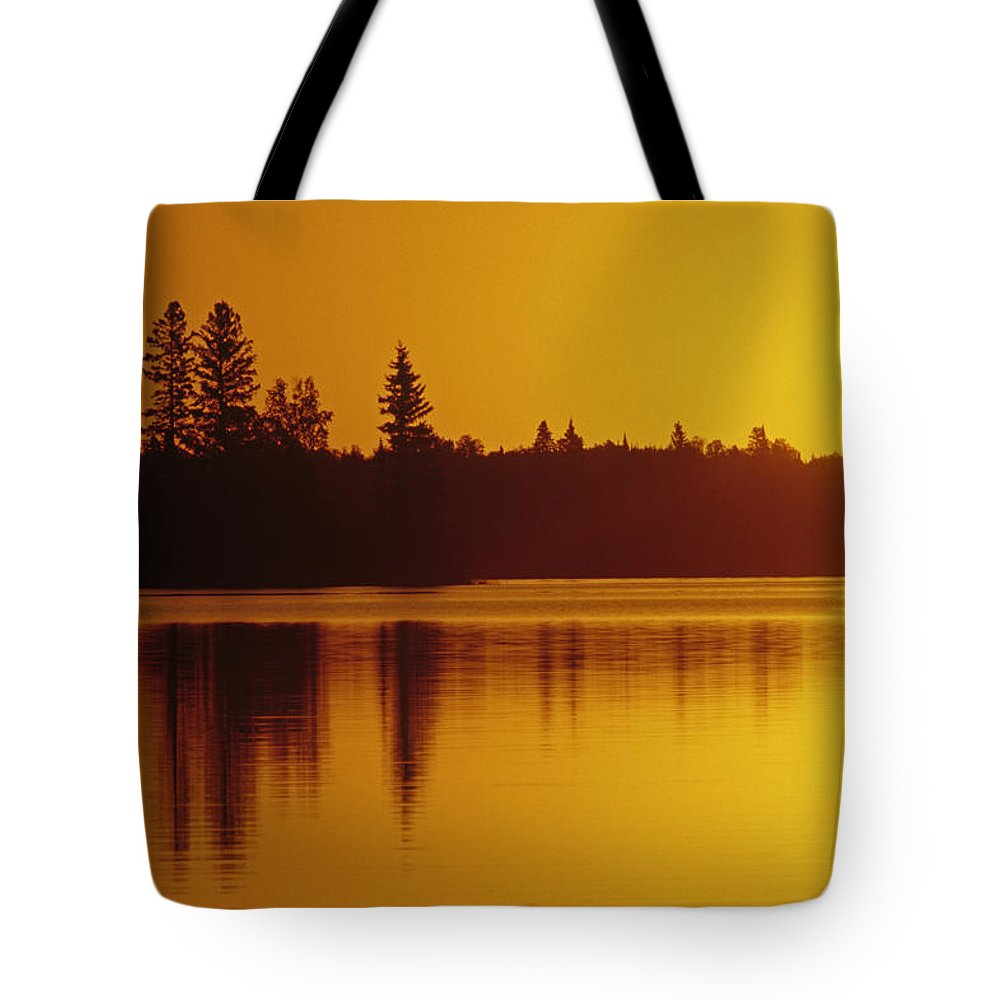 Color Images Tote Bag featuring the photograph Reflections On Jessica Lake At Sunrise by Mike Grandmailson