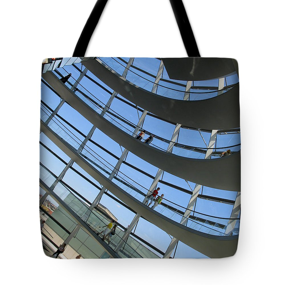 Travel Tote Bag featuring the photograph Reichstag Dome by S Paul Sahm
