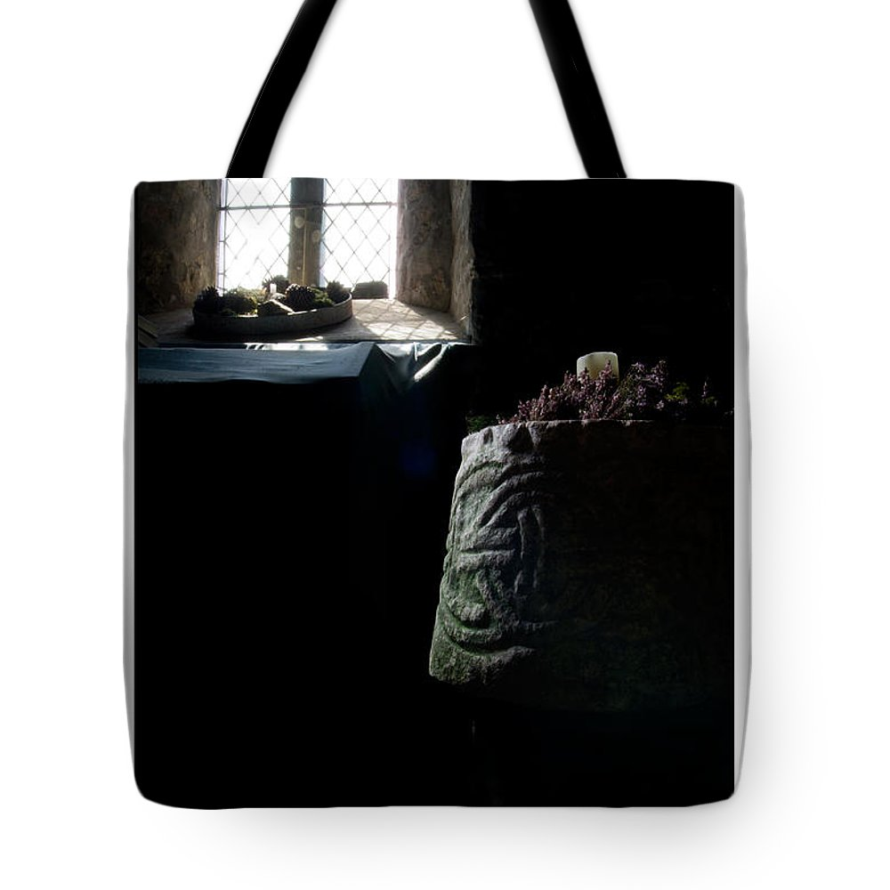 Celtic Tote Bag featuring the photograph Relics - Celtic Church by Beverly Cash