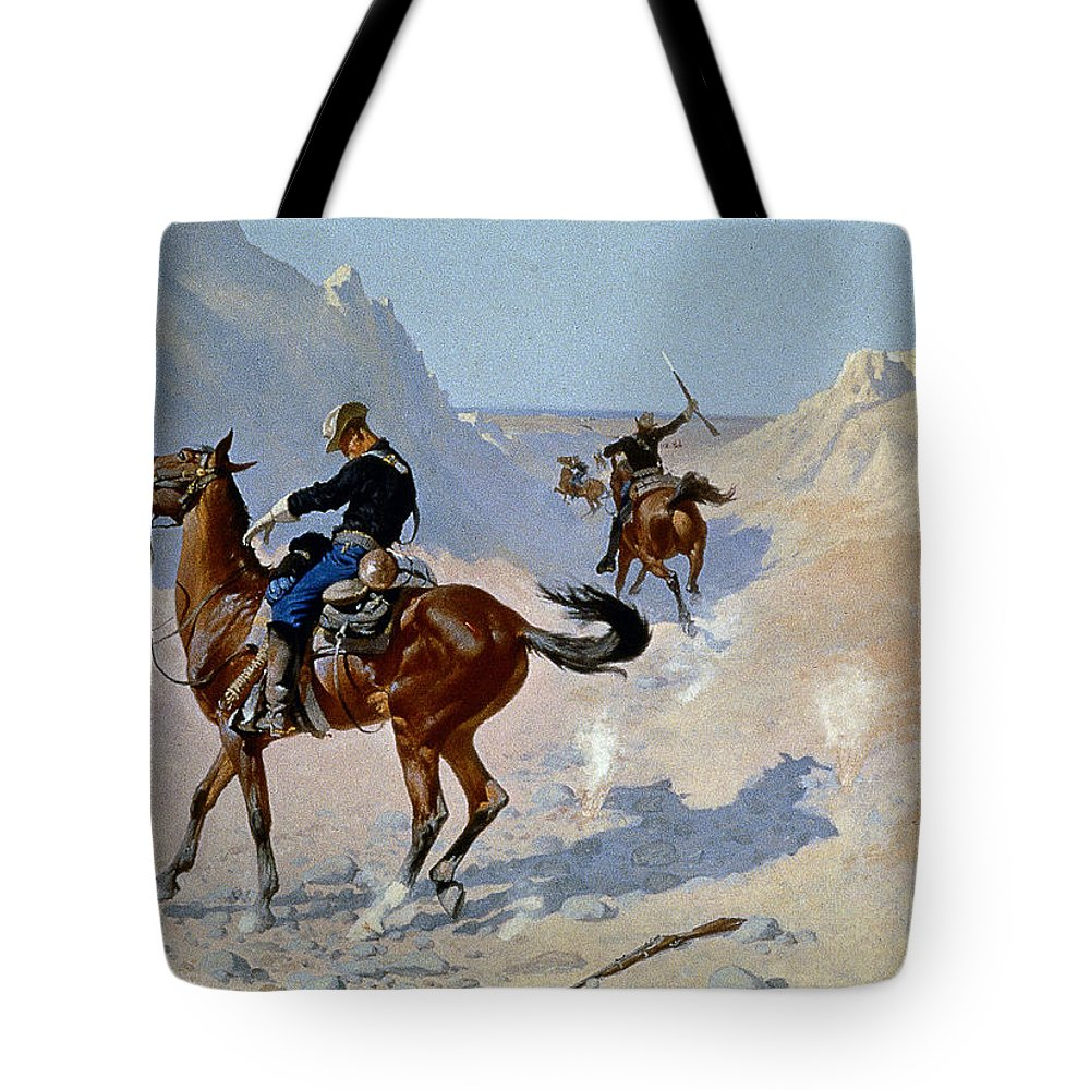 19th Century Tote Bag featuring the photograph Remington: Guard, 1890 by Granger