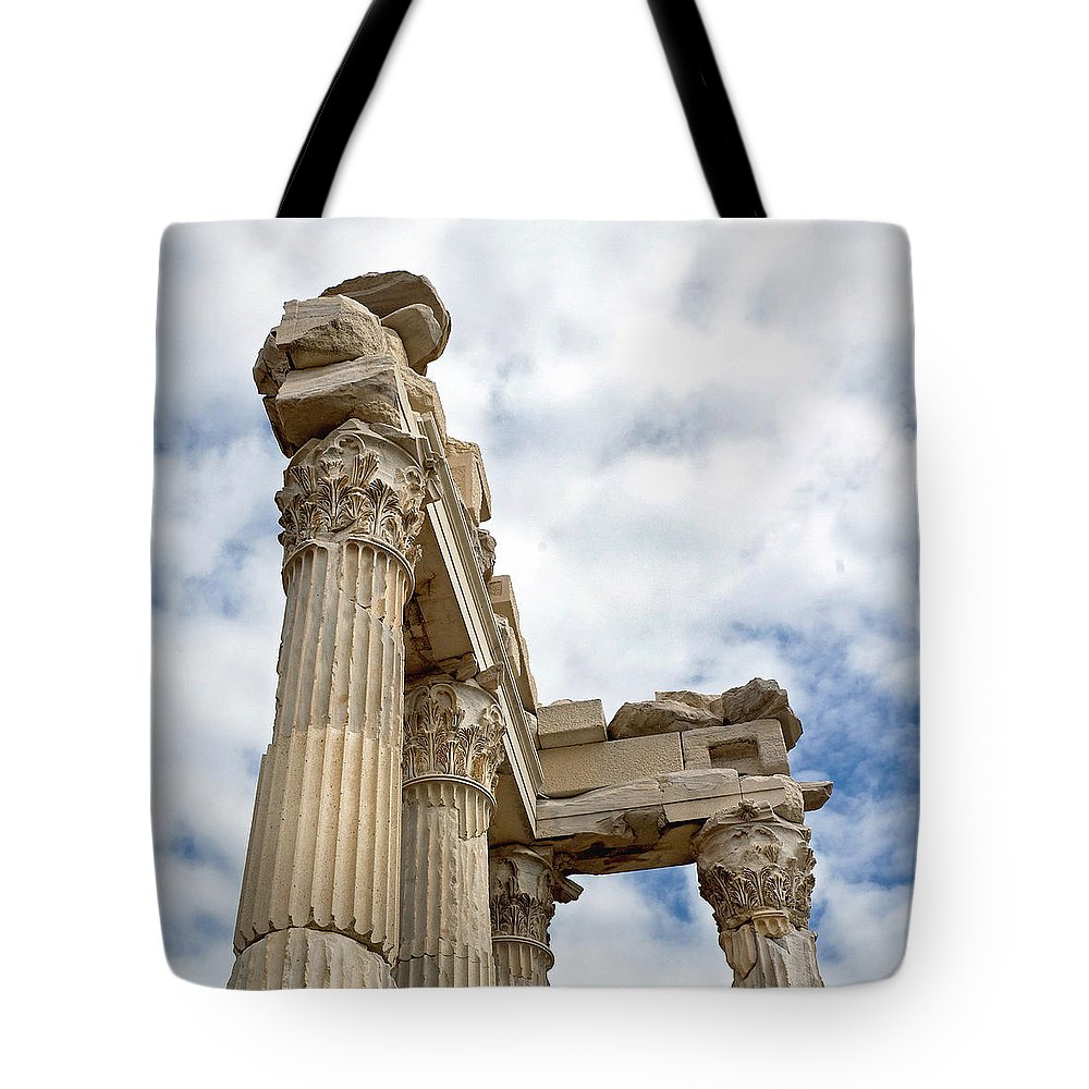 Marble Tote Bag featuring the photograph Remnants Of An Empire by Glennis Siverson