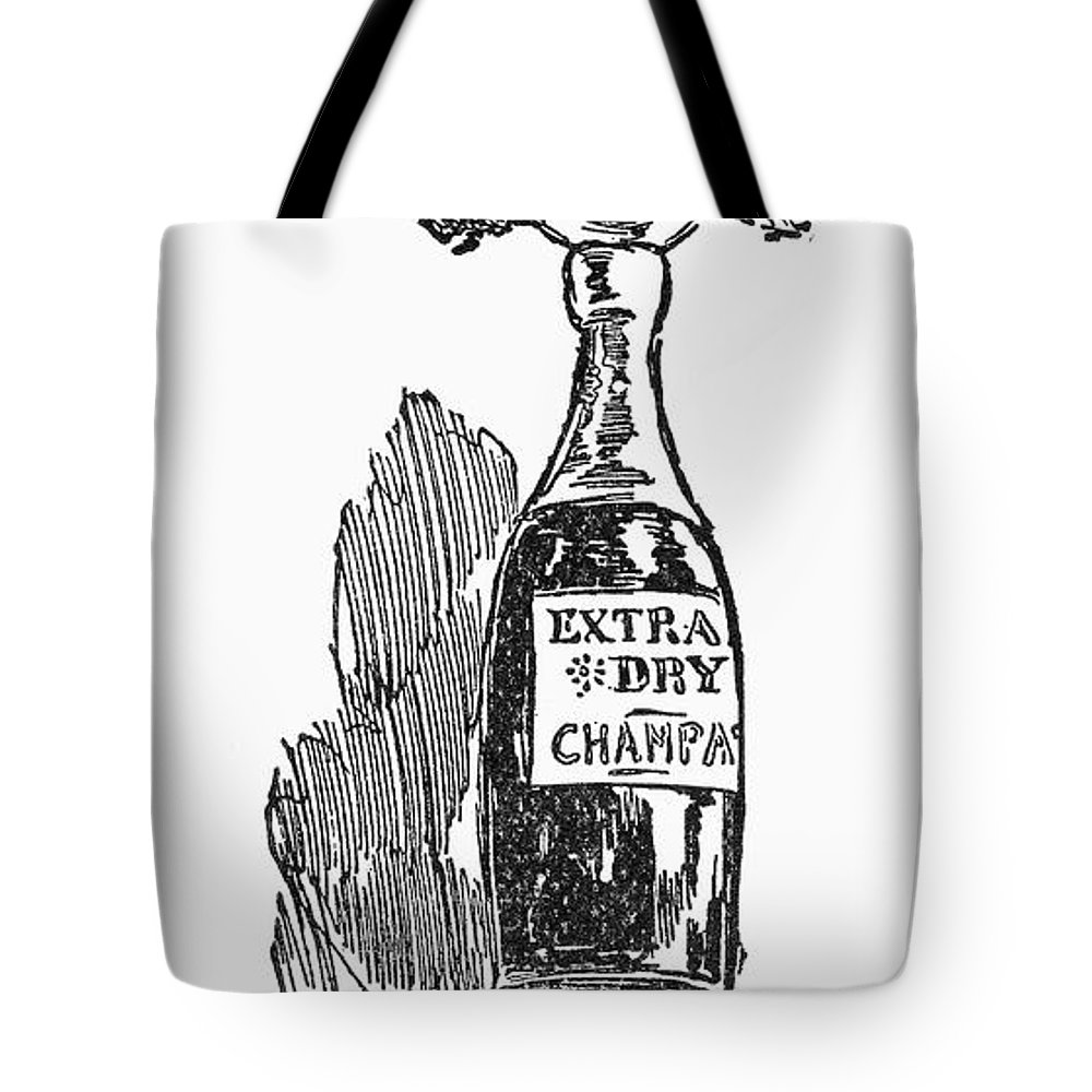 1896 Tote Bag featuring the photograph Republican Voter, C1896 by Granger