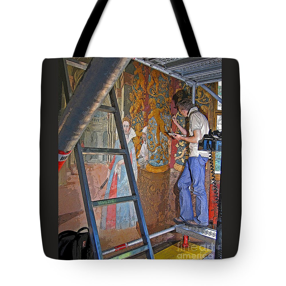 Art Tote Bag featuring the photograph Restoring Art by Ann Horn