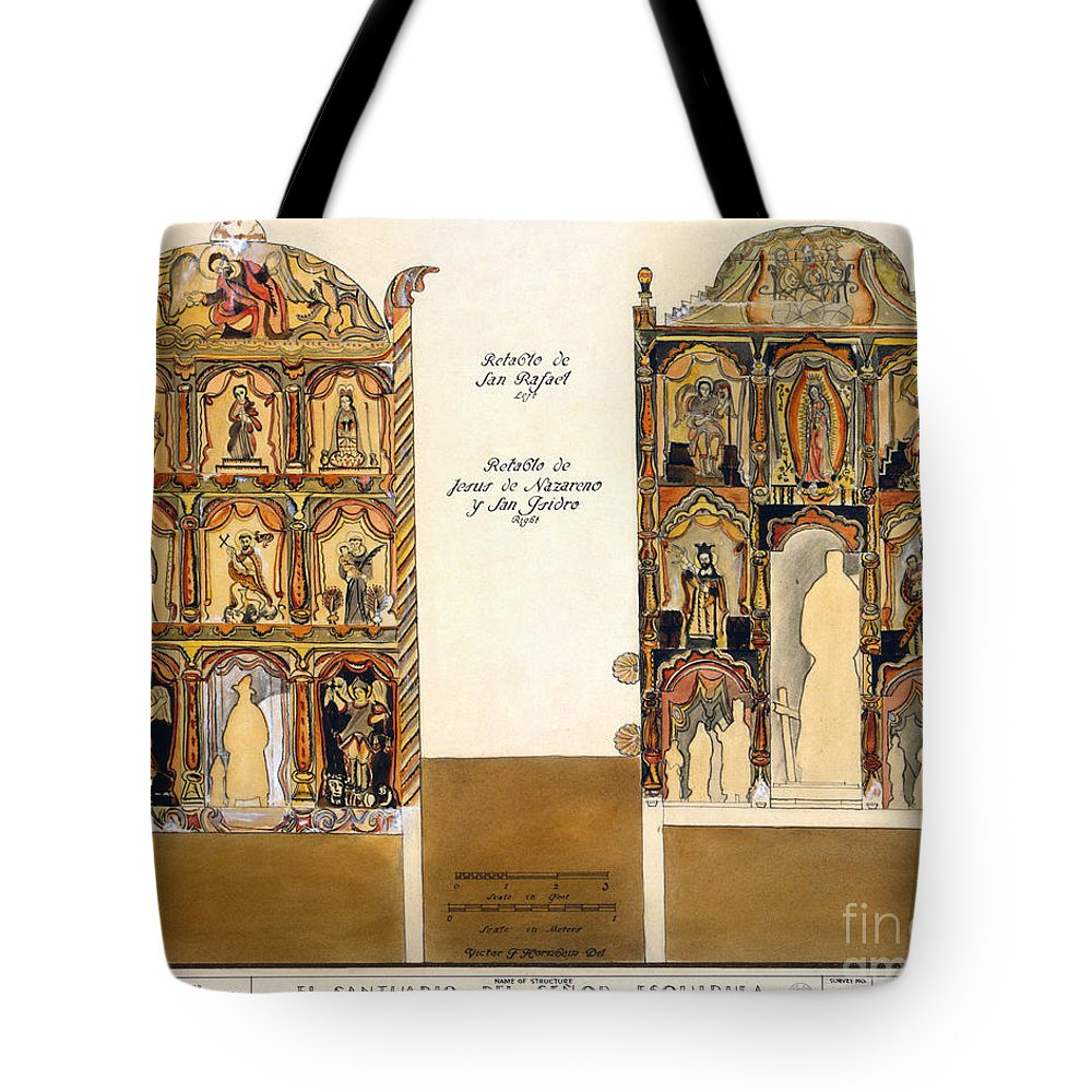 1816 Tote Bag featuring the photograph Retablo, 1816 by Granger