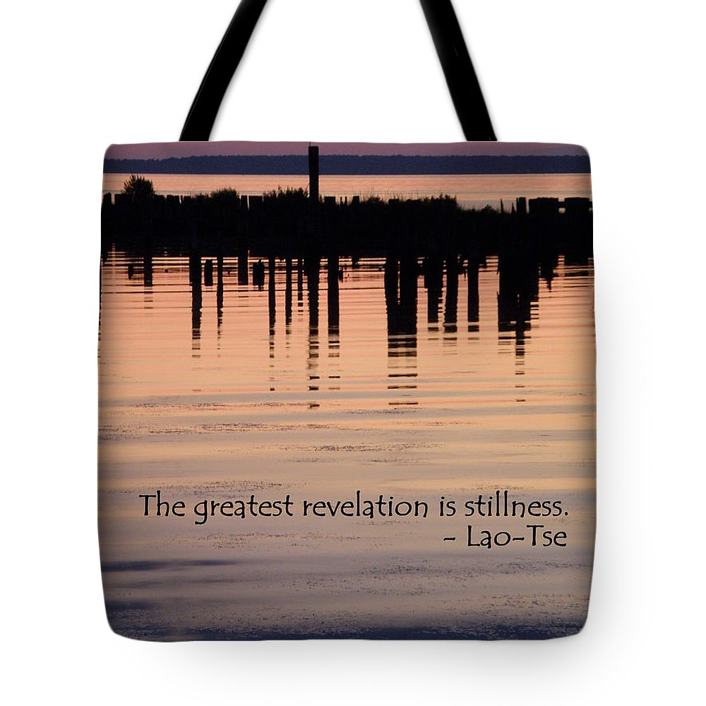 Stillness Tote Bag featuring the photograph Revelation by Lainie Wrightson