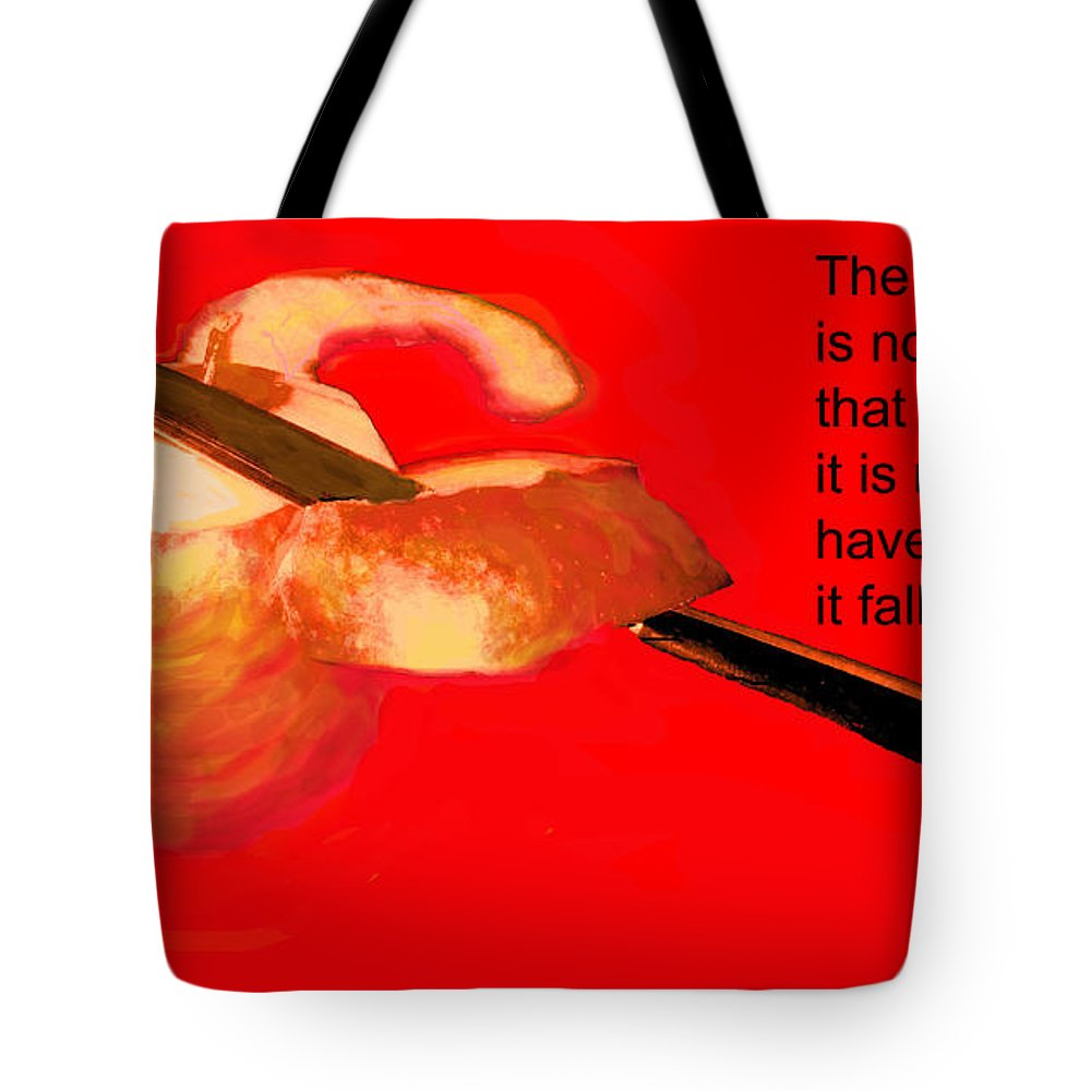 Apple. Knife Tote Bag featuring the photograph Revolution Is by Ian MacDonald