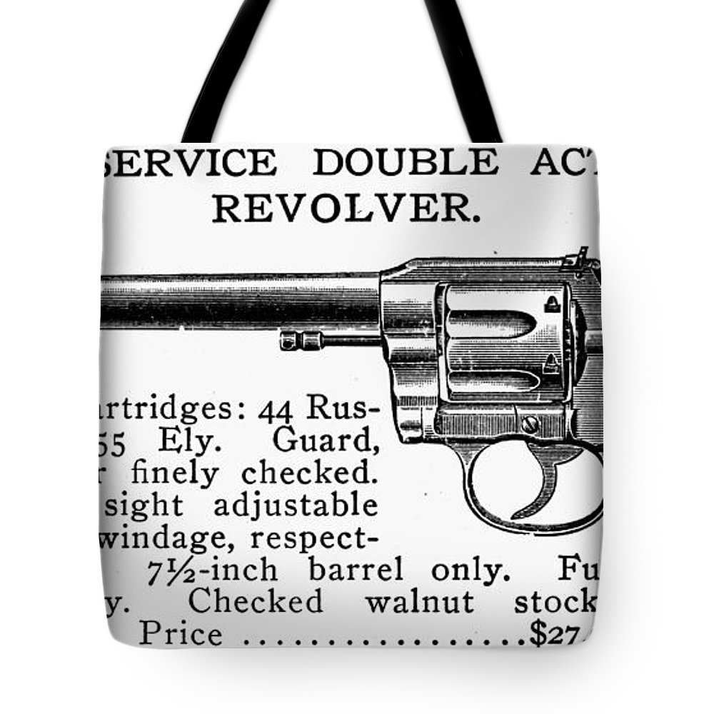 19th Century Tote Bag featuring the photograph Revolver, 19th Century by Granger