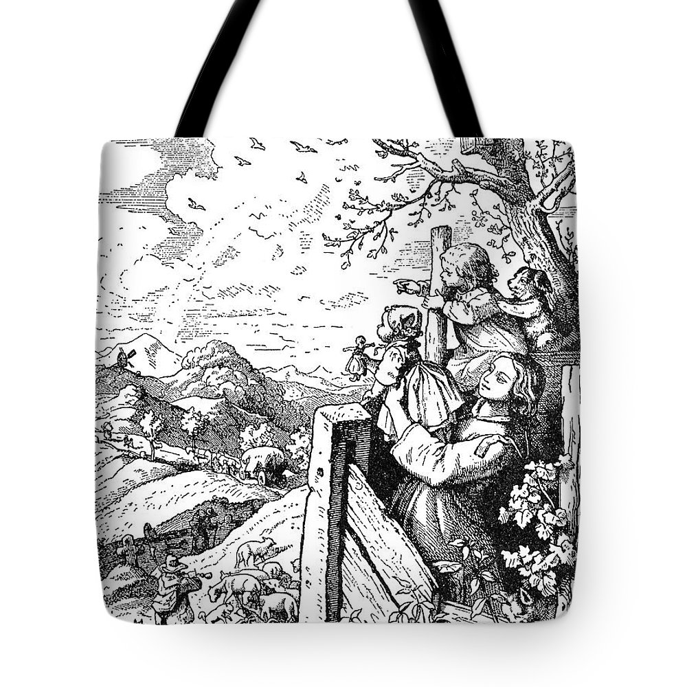 19th Century Tote Bag featuring the photograph Richter Illustration by Granger
