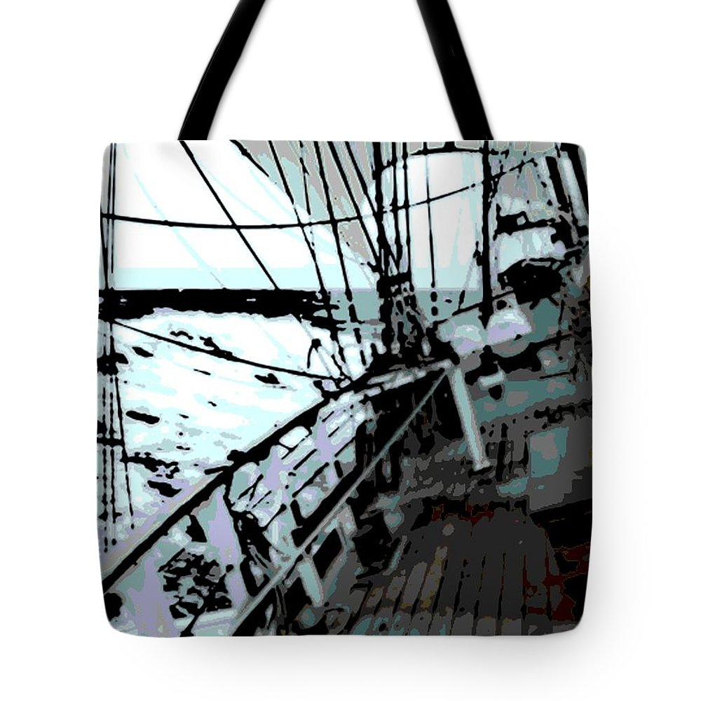 Boat Tote Bag featuring the photograph Ride Of A Lifetime by George Pedro