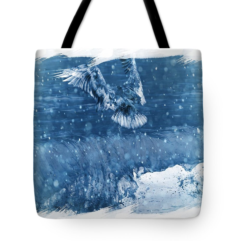 Seagulls Tote Bag featuring the photograph Riding The Wave The Gull by Debra Miller